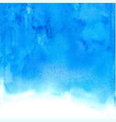 blue abstract hand drawn watercolor vector image vector image