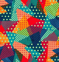 bright cloth seamless pattern with grunge effect vector image