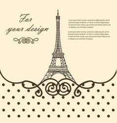 eiffel tower paris hand drawn vector image