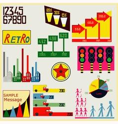 Retro Infographics vector image vector image