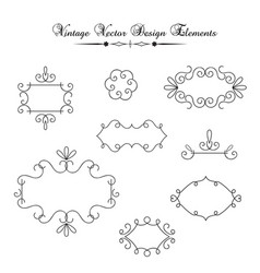 vintage decorations elements vector image