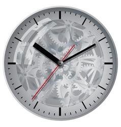 Wall mounted digital clock vector image vector image
