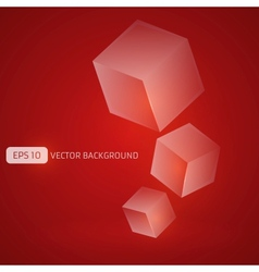 Abstract Cubes Background vector image vector image
