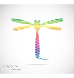 Dragonfly abstract vector image vector image