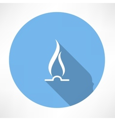 Gas Flame Icon vector image vector image