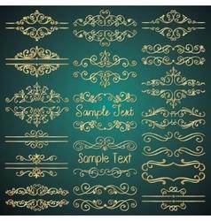 Golden royal luxury dividers frames vector