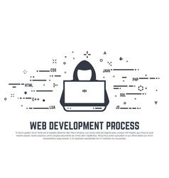 Hacker line copy vector image