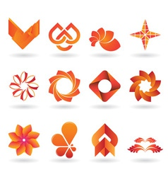 Orange Logo set vector image vector image
