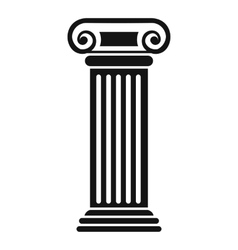 Roman column icon simple style vector image vector image