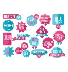 Set of Sale and Best Choice Badges vector image vector image