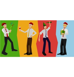 Worker party vector image