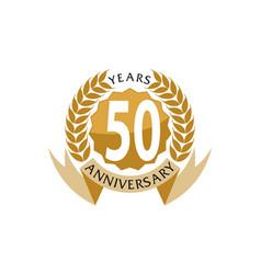 50 years ribbon anniversary vector image vector image