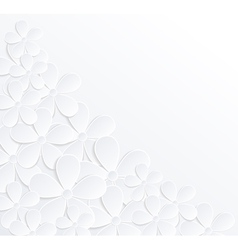 background with flowers made of paper vector image vector image