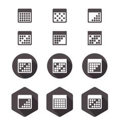 calendar flat icon set vector image
