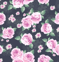 Classic rose seamless background vector image vector image