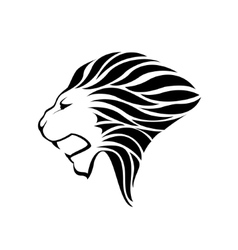 Lion head silhouette vector image vector image