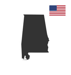 map of the us state alabam vector image vector image