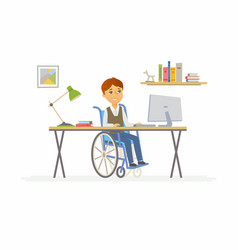 online education - of disabled school vector image vector image