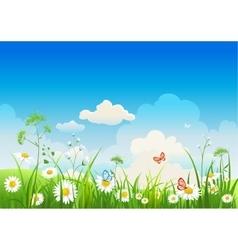 Summer positive landscape vector image