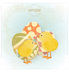 vintage easter greeting card vector image vector image