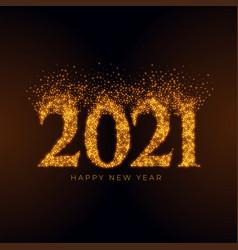 2021 happy new year sparkles burst background vector