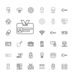 33 access icons vector