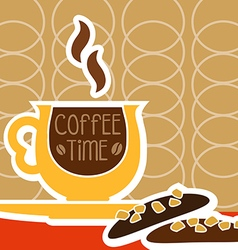 a cup of coffee and sweet vector image