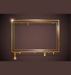 Art creative golden melting frame flowing flux vector