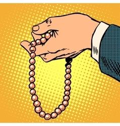 Beads decoration gift prayer religion vector