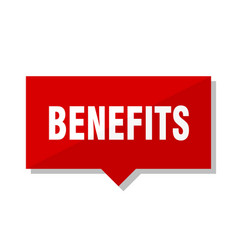 Benefits red tag vector