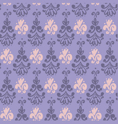 Brush paint violet wallpaper seamless pattern vector