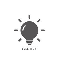 bulb icon simple flat style vector image