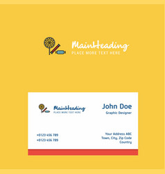 candies logo design with business card template vector image
