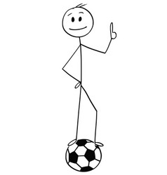 cartoon of smiling football or soccer player vector image