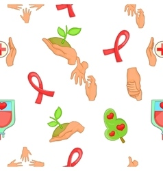 Charity pattern cartoon style vector image
