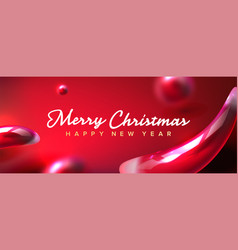 christmas banner abstract shapes vector image