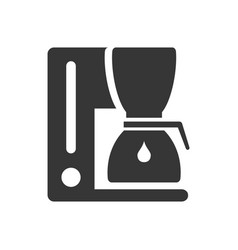 Coffee maker glyph single isolated icon vector