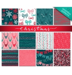 collection twelve hand drawn winter holidays vector image