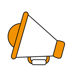 Color silhouette image of megaphone symbol vector