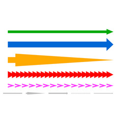 colorful arrow shapes vector image