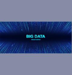 colorful big data visualization background vector image