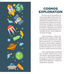 cosmos exploration poster of universe space vector image
