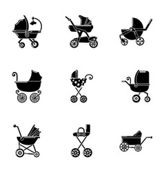 cot icons set simple style vector image