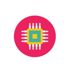 cpu - concept colored icon in flat graphic design vector image