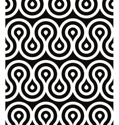 Curls seamless pattern black and white retro style vector image