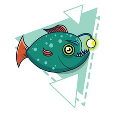 Deep-sea fish cartoon vector