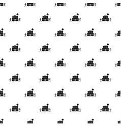 desert saloon pattern seamless vector image