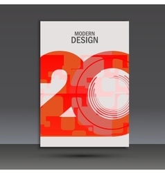 Design 20 years anniversary Cover template vector
