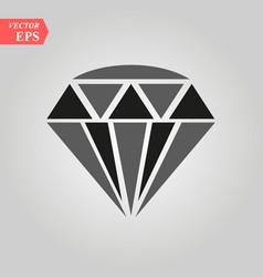 Diamond icon simple flat symbol perfect vector