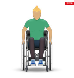 Disabled woman in wheelchair vector